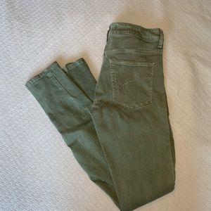 PacSun bullhead high-rise skinniest green jeans